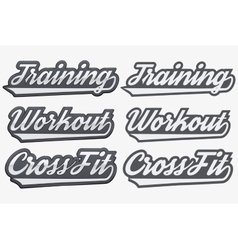 Tags Training Workout CrossFit in sports style vector