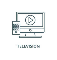 television line icon linear concept vector image