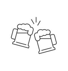 Toasting beer glasses vector