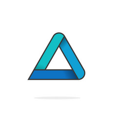 triangle logo isolated on white geometric vector image vector image
