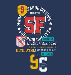 Typography varsity sf 96 vector