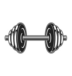 Vintage metal dumbbell icon vector