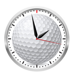 wall clock golf style on white background vector image vector image