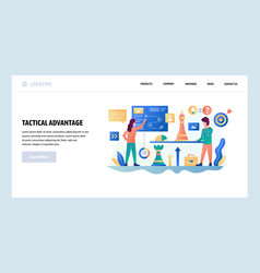 Web site design template business strategy vector