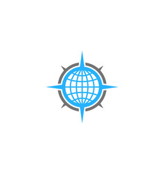world compass logo icon design vector image