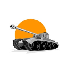 World war two panzer battle tank vector