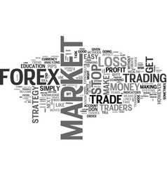 a profitable forex strategy text word cloud vector image vector image