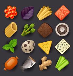 food icon set-2 vector image vector image