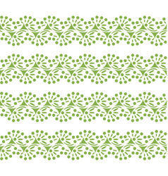 greenery lace seamless pattern background vector image vector image