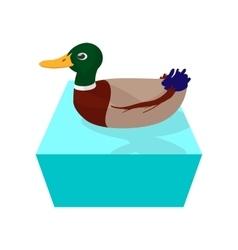 Wild duck cartoon icon vector image vector image