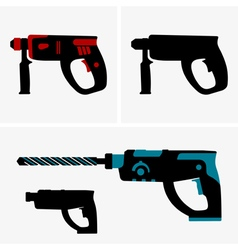 Hammer drill vector image vector image