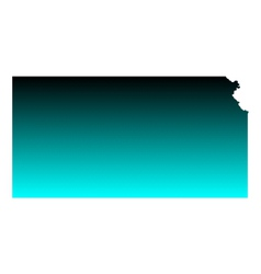 Map of Kansas vector image vector image
