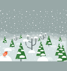 snow in the woods2 vector image