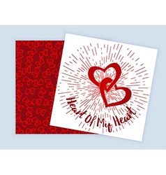 Valentines Daytwo sided flyer vector image vector image