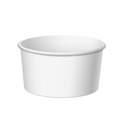 White blank container vector
