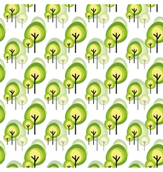 Abstract green tree seamless pattern vector image vector image