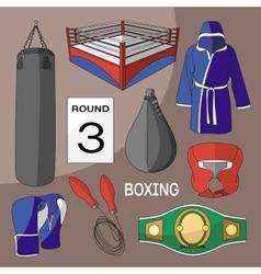 Boxing design elements vector image