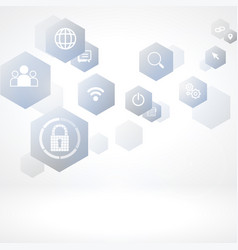 cybersecurity and information network protection vector image