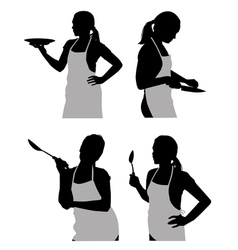 girl in the kitchen vector image