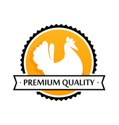 logo of farm products premium quality vector image