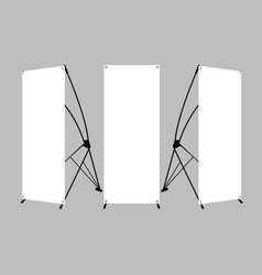 set of blank x-stand banners display vector image