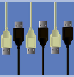 set of cables vector image vector image