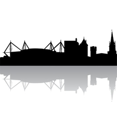 silhouette of Cardiff UK vector image vector image