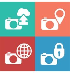 camera digital icon set vector image vector image
