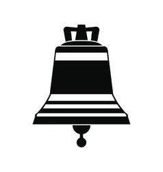 Church bell black simple icon vector image