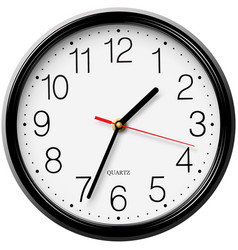 Classic round wall clock isolated on white backgro vector image vector image