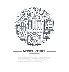 medical research concept vector image