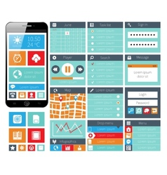 Modern UI flat design web elements vector image