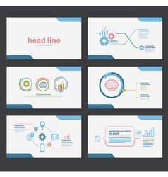 presentation template flat design set vector image