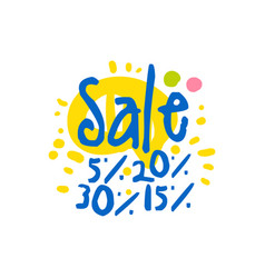 sale 5 15 20 30 percent off logo template vector image vector image