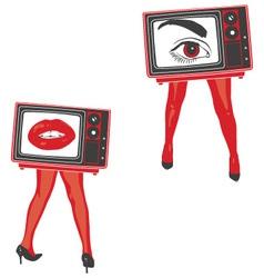 sexy television vector image vector image