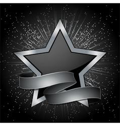 Star Banner Background vector image
