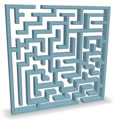 upright blue maze vector image