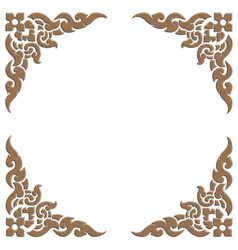 3d carve thai pattern vector