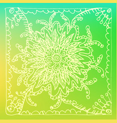 abstract flower pattern drawn by hands vector image