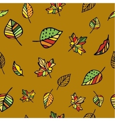 Autumn pattern with leaves vector image
