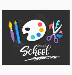 back to school background paper cut cartoon vector image