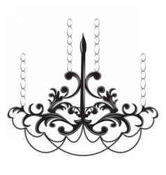Baroque style wall lamp on white vector image