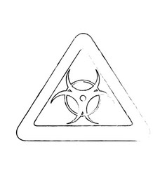 Biohazard danger symbol vector
