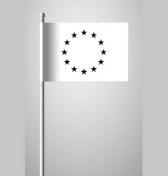 Black and white version european union flag vector