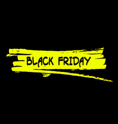 black friday text on paint splash vector image