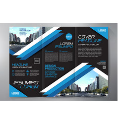 Brochure 3 fold flyer design a4 template vector