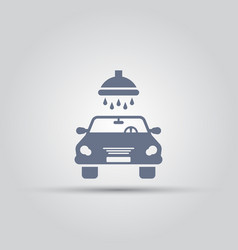 Car wash isolated simple icon vector