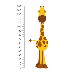 cheerful funny giraffe with long neck height vector image