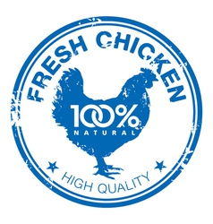 Chicken stamp vector image