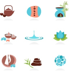 Collection spa and zen icons vector